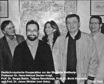 Decker-Voigt mit russischen Kollegen